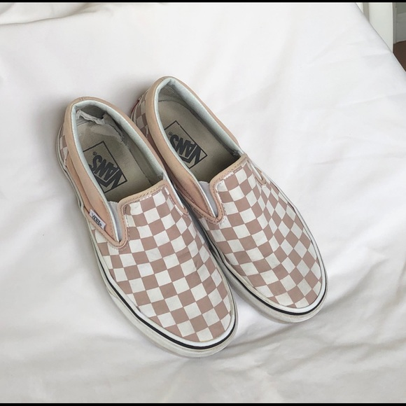 Vans Shoes | Pink White Checkered Vans